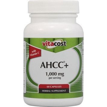 Vitacost Brand Vitacost AHCC+ with Vitamin C -- 1,000 mg per serving - 60 Capsules