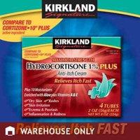 Kirkland Signature Kirkland Hydrocortisone %1 Cream 4 Tubes 2oz Each