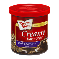 Duncan Hines Frosting Creamy Home-Style Dark Chocolate Fudge