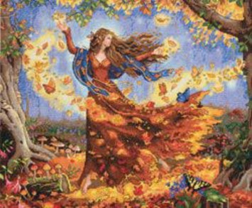 Other Dimensions Gold Collection Fall Fairy Counted Cross Stitch Kit