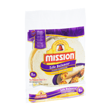 Mission Life Balance Medium Soft Taco Flour Tortillas - 8 CT