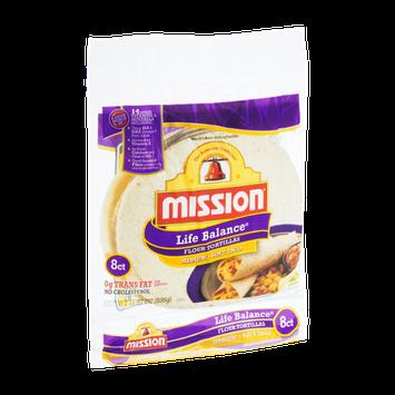 Mission Life Balance Medium Soft Taco Flour Tortillas - 8 CT