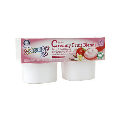 Gerber® Graduates Creamy Fruit Blends Dairy & Fruit Snack Strawberry Vanilla