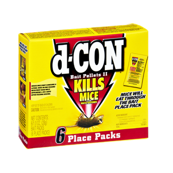 d-Con Bait Pellets II Kills Mice Place Packs- 6 CT