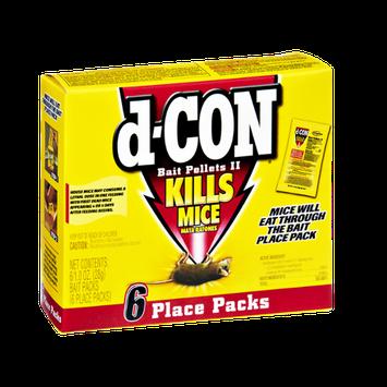 d-Con Bait Pellets II Kills Mice Place Packs- 6 CT