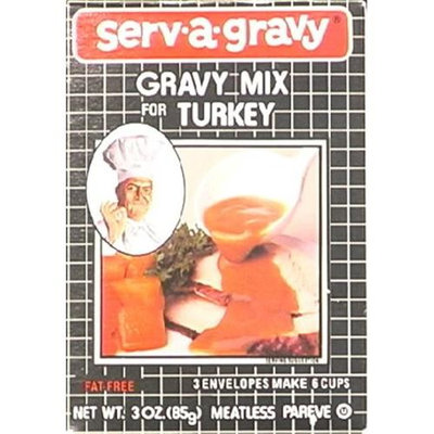 Serv-a-gravy Serv A Gravy Gravy Mix Turkey 3-Ounce Boxes -Pack of 12