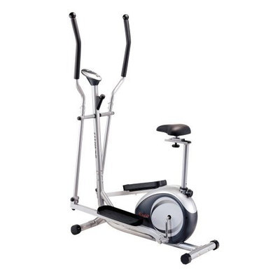 Sunny Health & Fitness 2 in 1 Elliptical and Upright Bike