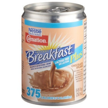 Carnation Instant Breafast Plus, Lactose Free, Chocolate Splash, 8.45-Ounce Cans (Pack of 24)