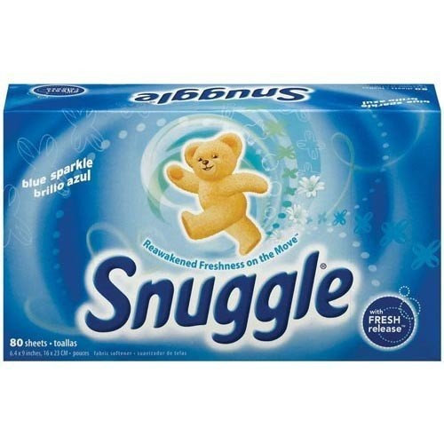 Snuggle Fabric Softener Sheets, Blue Sparkle, 80-Count (Pack of 3) 240 sheets
