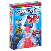 Super C Energy boost packets vitamin and mineral drink mix, Berry flavors - 7 ea