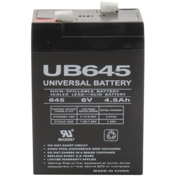 UPG 85998/D5733 Sealed Lead Acid Batteries (6V; 4.5 AH; UB645)