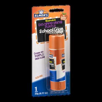 Elmer's Washable School Glue Stick Disappearing Purple