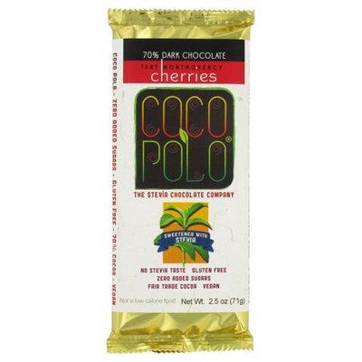 Coco Polo BG11624 Coco Polo Dark Choc-Cherry Bar - 10x2.5OZ
