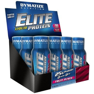 Dymatize Nutrition Elite Liquid Protein, Fruit Punch, 24 Fl oz.