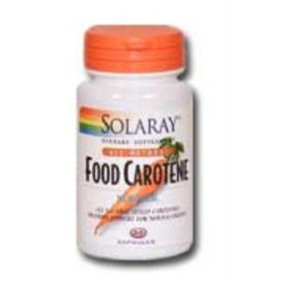 Solaray Dry Natural Food Carotene 10000 IU Capsules, 30 Count