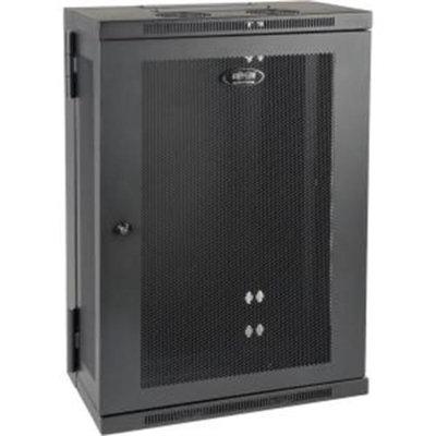 Tripp Lite SmartRack Slim 18U Swinging Wall-Mount Rack Enclosure Cabinet