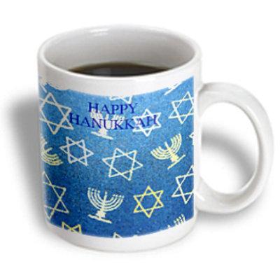 Recaro North 3dRose - Florene Jewish Theme - Hanukkah - 11 oz mug
