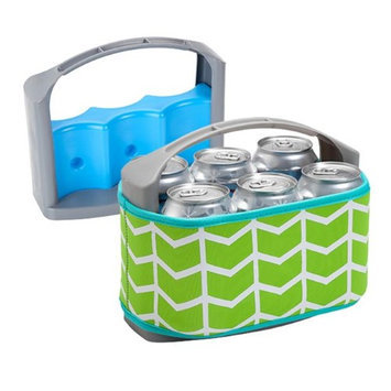 Occasionally Made Six Pack Can Cooler with Cover Lime