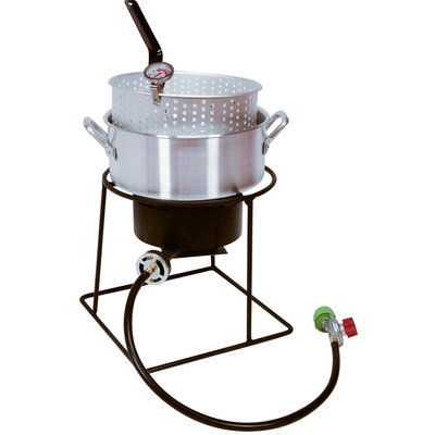King Kooker 12 Outdoor Cooker with Aluminum Fry Pan