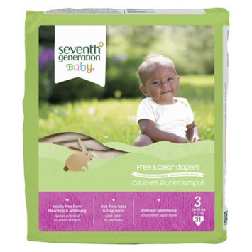 Seventh Generation Baby Diapers - Size 3 (124 Count)