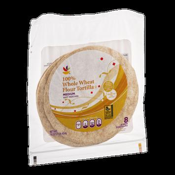 Ahold Flour Tortilla 100% Whole Wheat Medium - 8 CT