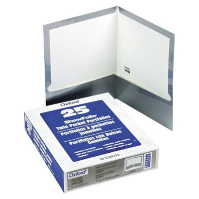 Oxford 11 x 8 1/2 High Gloss Laminated Paperboard 100-Sheet Capacity