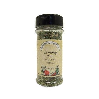 Lizzie's Kitchen Lemony Dill Seasoning, 2.6-Ounce Plastic Jars (Pack of 4)
