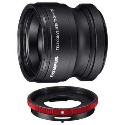 Olympus TCON-T01 Tele Converter Lens & CLA-T01 Adapter Ring Pack for Tough TG-1, TG-2 & TG-3 iHS Waterproof Digital Camera