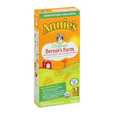 Annie's Homegrown Organic Bernie's Farm Macaroni & Cheese