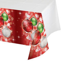 Party Central Club Pack of 12 Bright Baubles Ensemble Christmas Holiday Rectangle Tablecovers 54 x 102