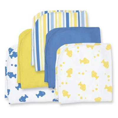 i play Knitted 5 Pack Terry Washcloth, Boy
