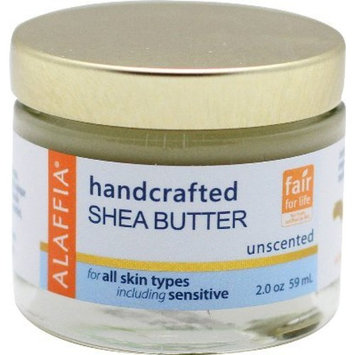 Alaffia Handcrafted Shea Body Butter, Unscented, 2 oz