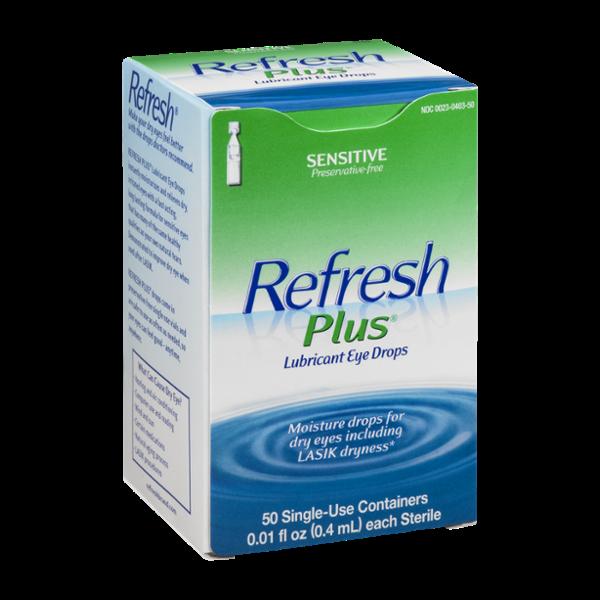 Refresh Plus Lubricant Eye Drops Sensitive - 50 CT