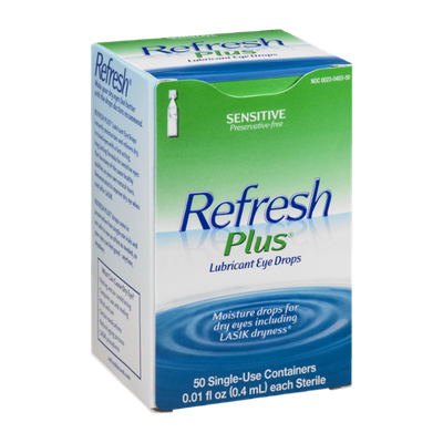 Refresh Plus Lubricant Eye Drops Sensitive - 50 CT