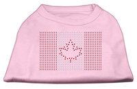 Mirage Pet Products 5217 XLLPK Canadian Flag Rhinestone Shirts Light Pink XL 16
