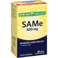 Spring Valley SAMe Dietary Supplement, 400mg, 40 count