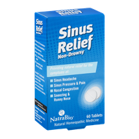 NatraBio Non-Drowsy Sinus Relief Tablets
