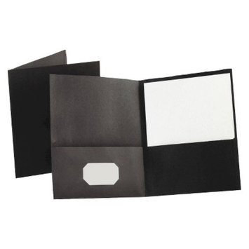 Esselte Oxford Twin-Pocket Portfolio with Embossed Leather Grain Paper -