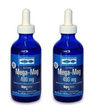 Trace Minerals Research Mega-Mag Liquid Magnesium - 4 oz (2-Pack)