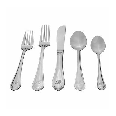 Sourcing Solutions 46 Pc Royalty Personalized Flatware - Letter T