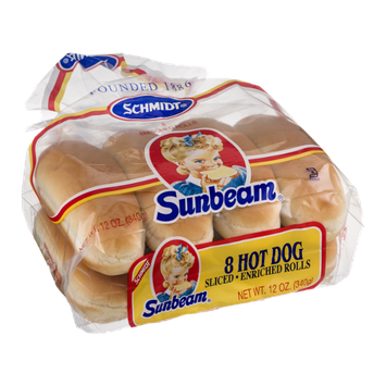 Schmidt Sunbeam Hot Dog Rolls - 8 CT