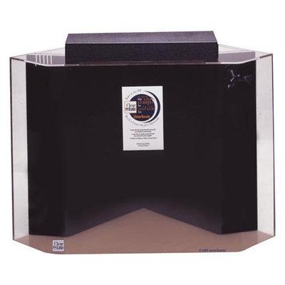 Advance Aqua Tanks Uniquarium Pentagon Aquarium Black, Size: 75-Gal (24W x 24D x 30H in.)