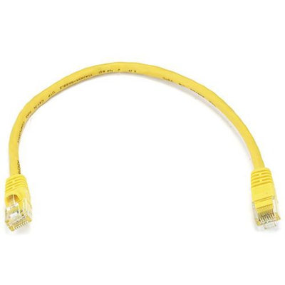 Monoprice 1FT 24AWG Cat6 550MHz UTP Bare Copper Ethernet Network Cable - Yellow