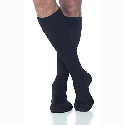 Sigvaris Cotton 232CLSO66 20-30 mmHg Open Toe Socks Crispa - Large Short