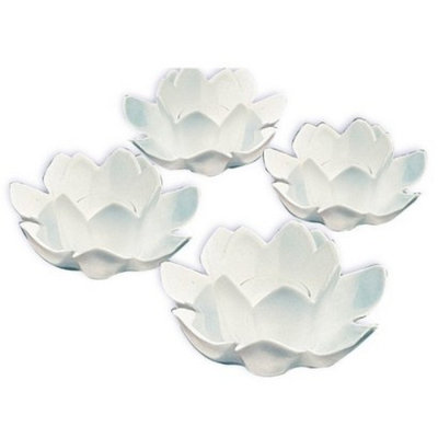 Poolmaster Floating White Blossom Lights Set of 6