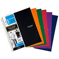 Five Star(R) Notebook With 2 Pockets, 8 1/2In. X 11In., 1 Subject, College Ruled, 100 Sheets, Assorted Colors (No Color Choice)