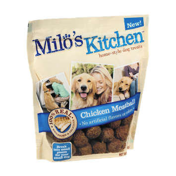 Milo's Kitchen Chicken Meatballs Home-Style Dog Treats