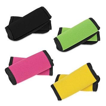 Travelon Set of 8 Handle Wraps - 2 Black and 2 Neon Pink and 2 Neon Green and 2 Neon Yellow Set of Handle Wra