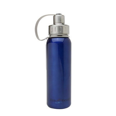 Eco Vessel Bold Stainless Steel Water Bottle w/ Sport Screw Cap