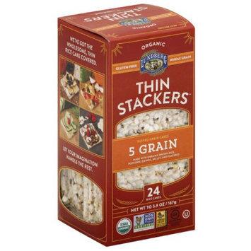 Lundberg Organic Thin Stackers 5 Grain Puffed Grain Cakes, 5.9 oz, (Pack of 12)